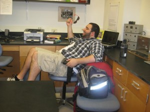 Adam hanging out in the lab.